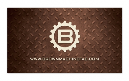 brown machine and fabrication business card